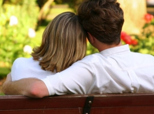 Couples on bench